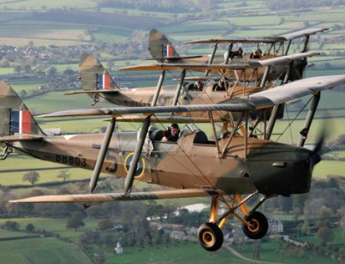 Flying over Dorset in a Tiger Moth