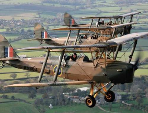 Flying over Dorset in a Tiger Moth